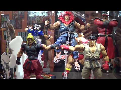 Storm Collectible Ryu, Ken, Akuma, Bison Street Fighter figures at NYCC 2017