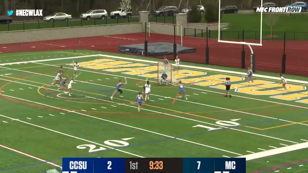 WLAX: Merrimack College Women's Lacrosse Highlights vs Central Connecticut (4-28-21