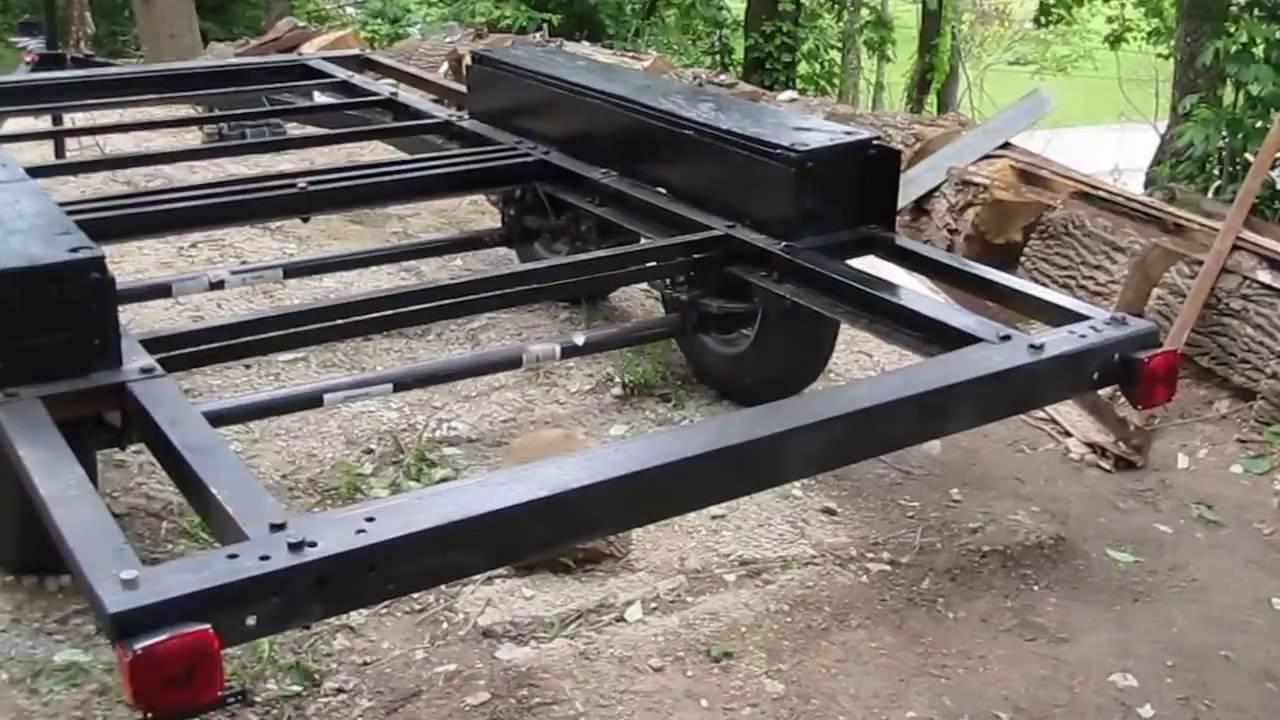 Diy Part 3 Trailer Diy Build Tandem Axle Trailer Youtube