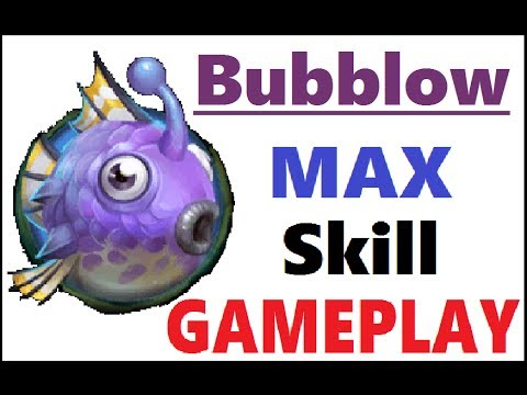 BUBBLOW MAX Skill PET Gameplay CRAZY HEALS Castle Clash