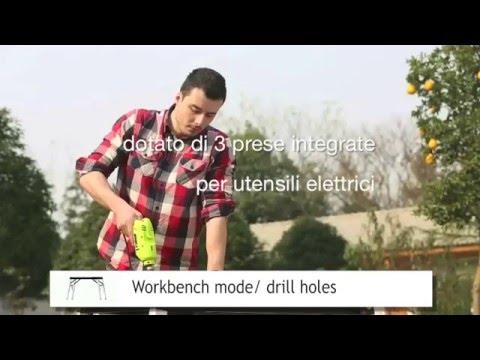 Banco Da Lavoro Hobbistico : Benchworker tavolo da lavoro trasformabile multifunzione youtube