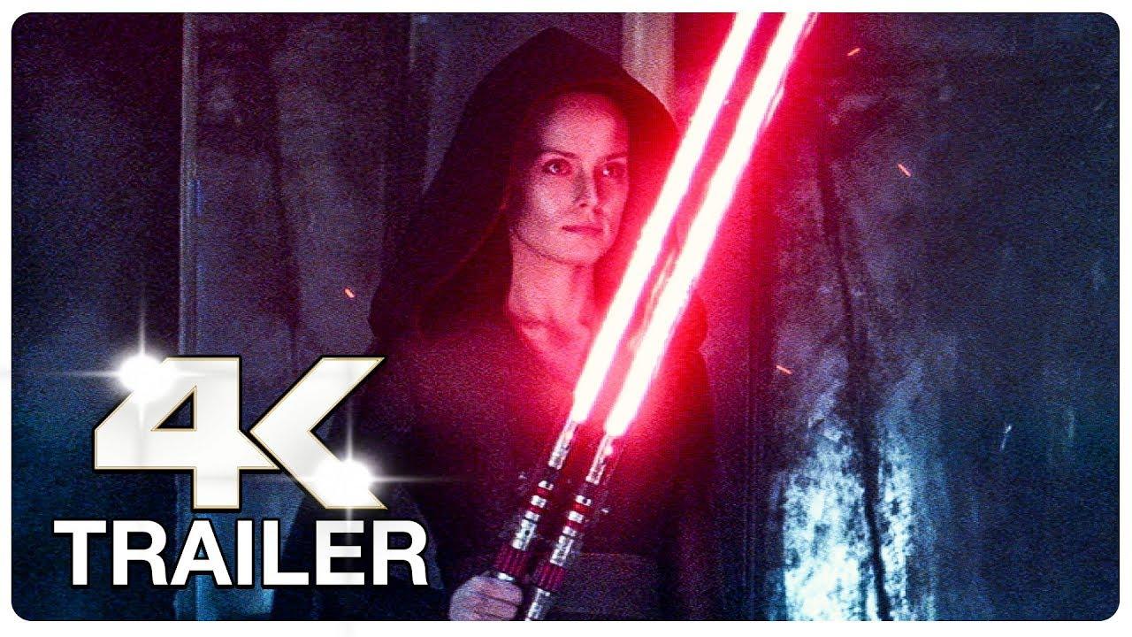 STAR WARS 9 THE RISE OF SKYWALKER : 4 Minute Trailers (4K ULTRA HD) NEW 2019
