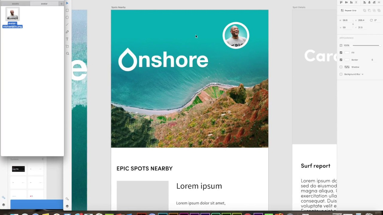 Designing a mobile app with Adobe XD, Comp CC and Illustrator CC