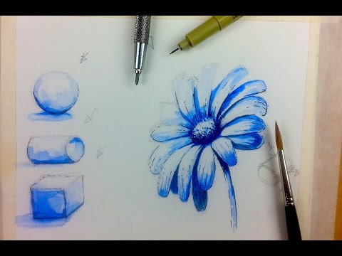 Beginner Watercolor Value Exercise | How to Paint Monochroma
