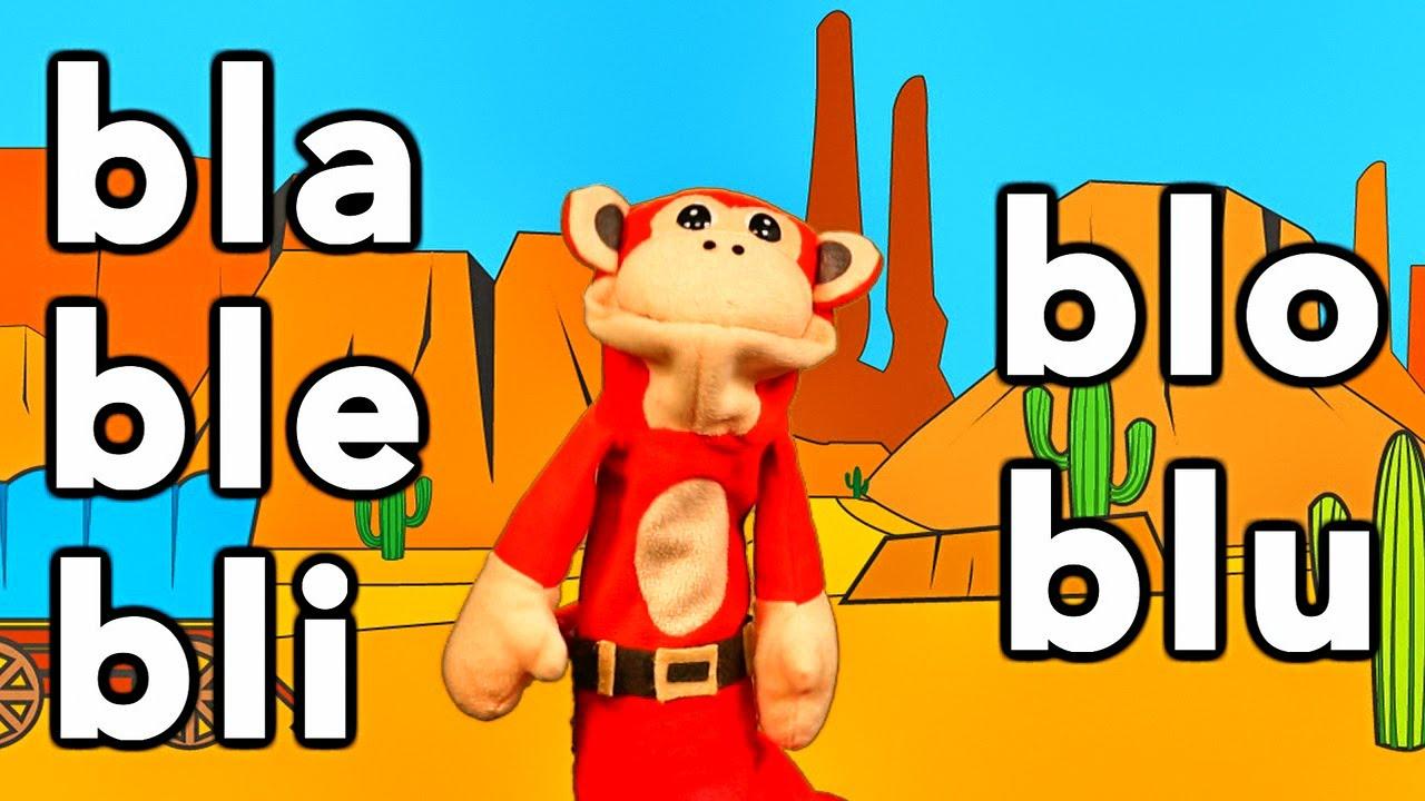 Silabas bla ble bli blo blu - El Mono Sílabo - Videos Infantiles - Educación para Niños #