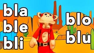 silabas bla ble bli blo blu el mono sílabo videos infantiles educación para niños