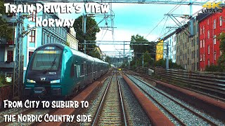 4K CAB VIEW: City to Suburb to the Nordic Countryside