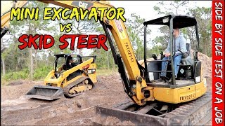 Mini Excavator vs Skid steer