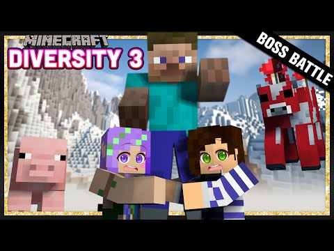 Giant Steve Boss Battle -  Minecraft Diversity 3 w/ iHasCupquake & StacyPlays - Ep.28