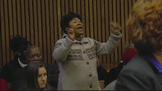 Powerful video: Sister of victim speaks at sentencing of