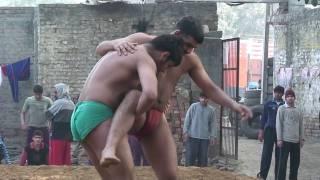Kushti wrestling training at chand roop akhara