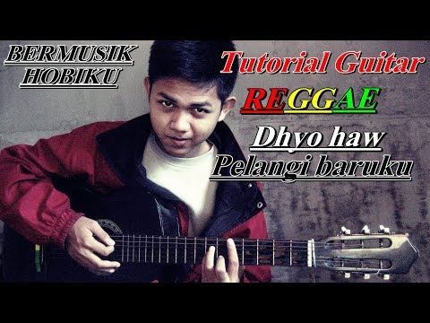 Cara bermain Guitar Reggae Lagu Pelangi baruku dengan 4 kunci/Chord