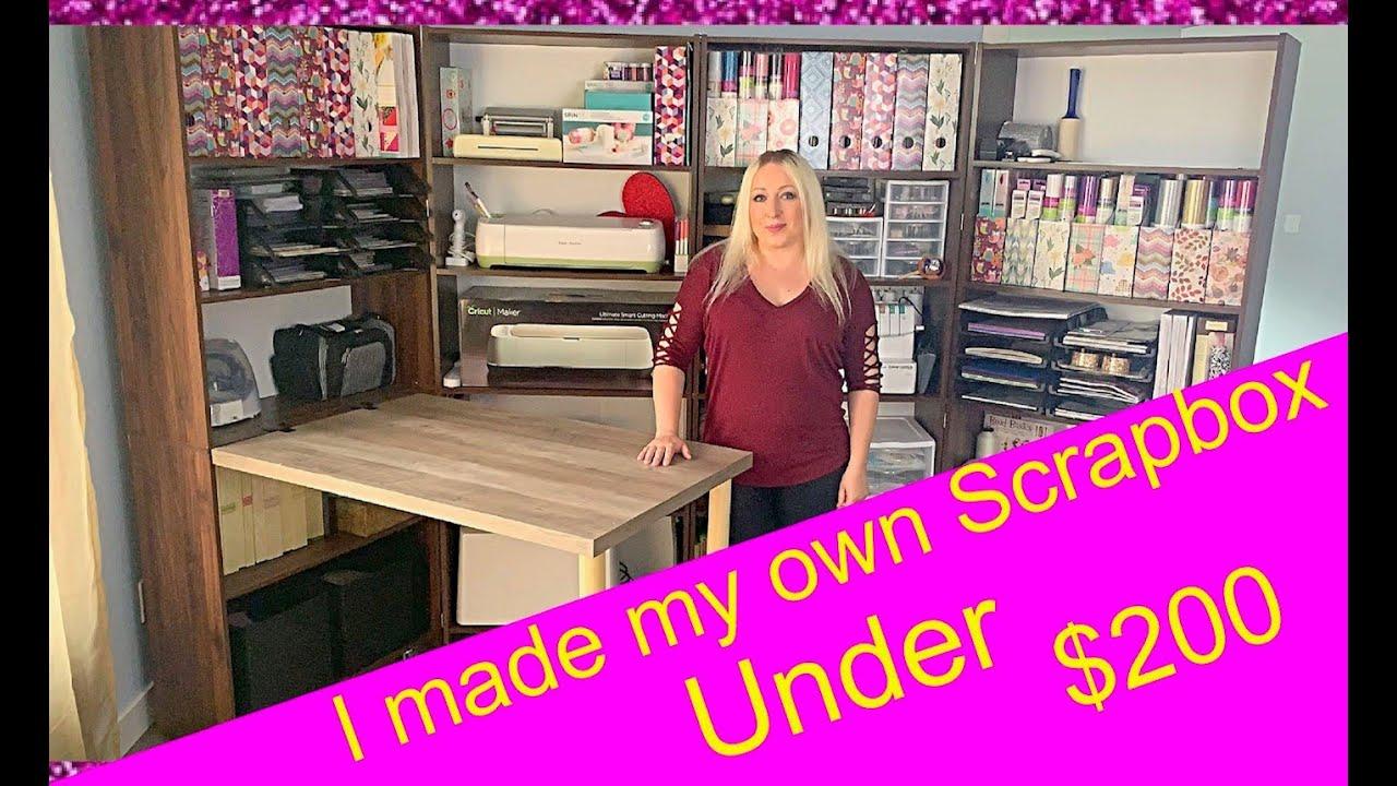 I Made My Own Scrapbox Craftbox Under 200 Do It Yourself Best Storage Ever Craft Closet