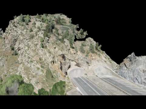 Mountain Highway Photogrammetry and LiDar Scan - Ascent Geom