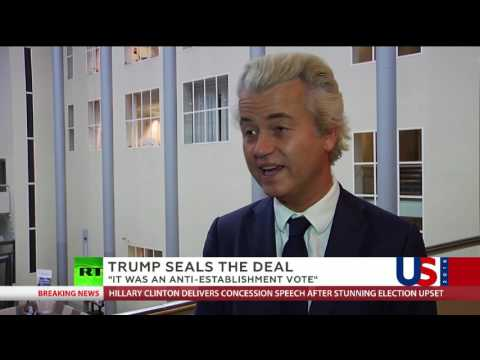 Marie-Christine Arnautu and Geert Wilders on US elections