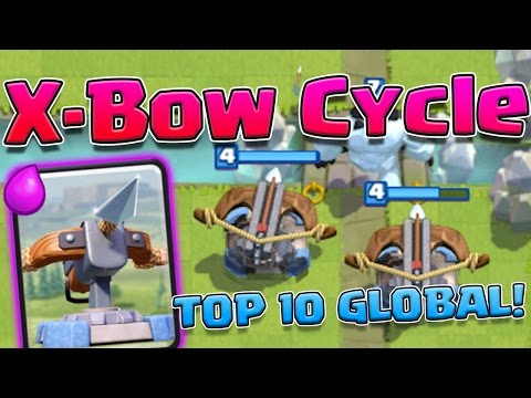 X-BOW CYCLE, TOP 10 IN THE WORLD! | Live Battles | Clash Royale