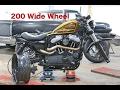 Harley Davidson Sportster 48 Customisation Series Part 4a - 200 Wide Tyre