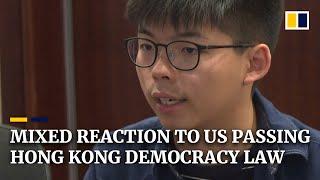 China, Joshua Wong and former Hong Kong leader CY Leung react to US passing Hong Kong democracy bill