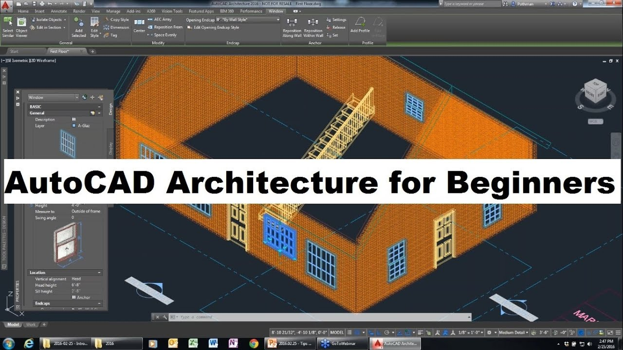 Autocad Architecture Tutorial For Beginners Complete Youtube