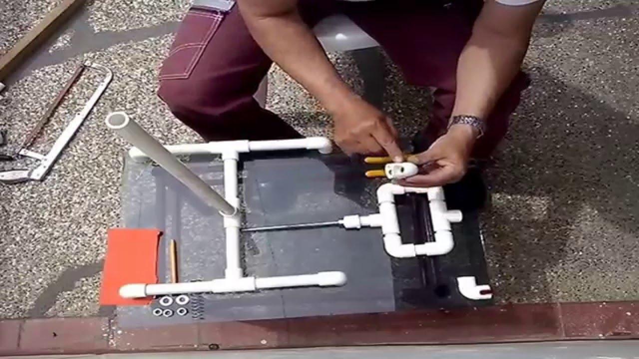 Como hacer un tr pode casero de pvc en 10 minutos youtube for Como hacer un criadero de peces casero