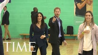 Meghan Markle And Prince Harry Were Total Sports At This Fun Gymnasium Event   TIME