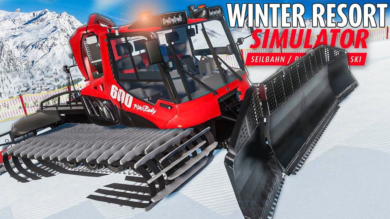 winter resort simulator pistenbully im einsatz seilwinde. Black Bedroom Furniture Sets. Home Design Ideas