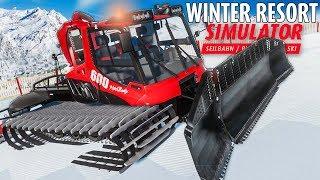 WINTER RESORT Simulator: Pistenbully im Einsatz: Seilwinde und Fräse auf der Piste! | Preview