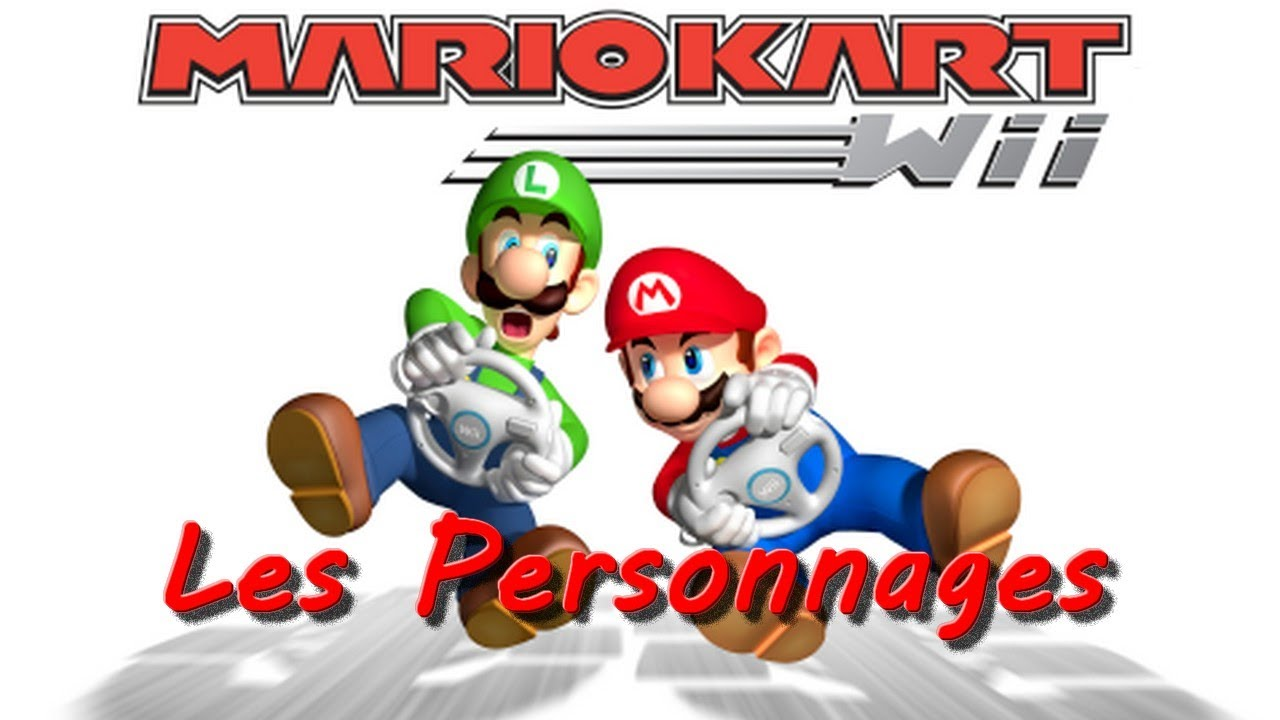 personnages mario kart wii youtube. Black Bedroom Furniture Sets. Home Design Ideas