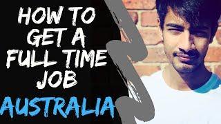 Full Time Job | How to get a Job in AUSTRALIA | Internash