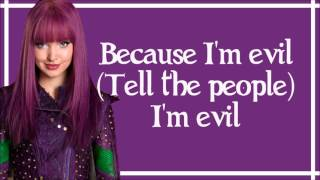 Evil - Dove Cameron Lyrics From Disney39s Descendants Wicked World