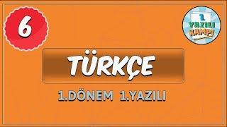 6. Sınıf Türkçe | 1. Dönem 1. Yazılıya Hazırlık