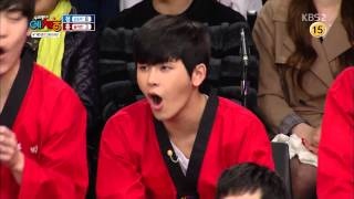 140325 Hoya Reaction @ KBS2 우리동네 예체능