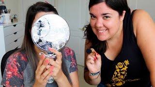 Mi Hermana me Maquilla   Enseñando a mi hermana a Maquillar :D