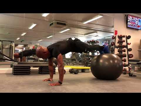 Cuban Cardio Swiss Ball Core Stability Training