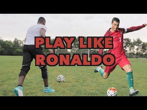 HOW TO PLAY LIKE CRISTIANO RONALDO - SHOOT, DRIBBLE AND THINK LIKE RONALDO - 동영상