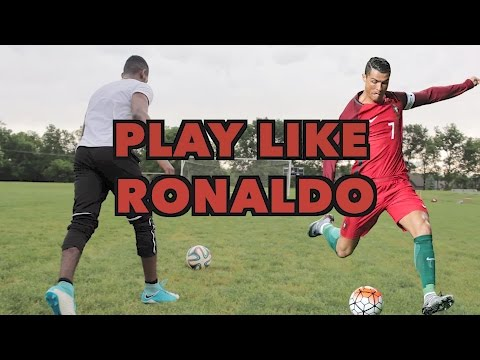 HOW TO PLAY LIKE CRISTIANO RONALDO - SHOOT DRIBBLE AND THINK LIKE RONALDO
