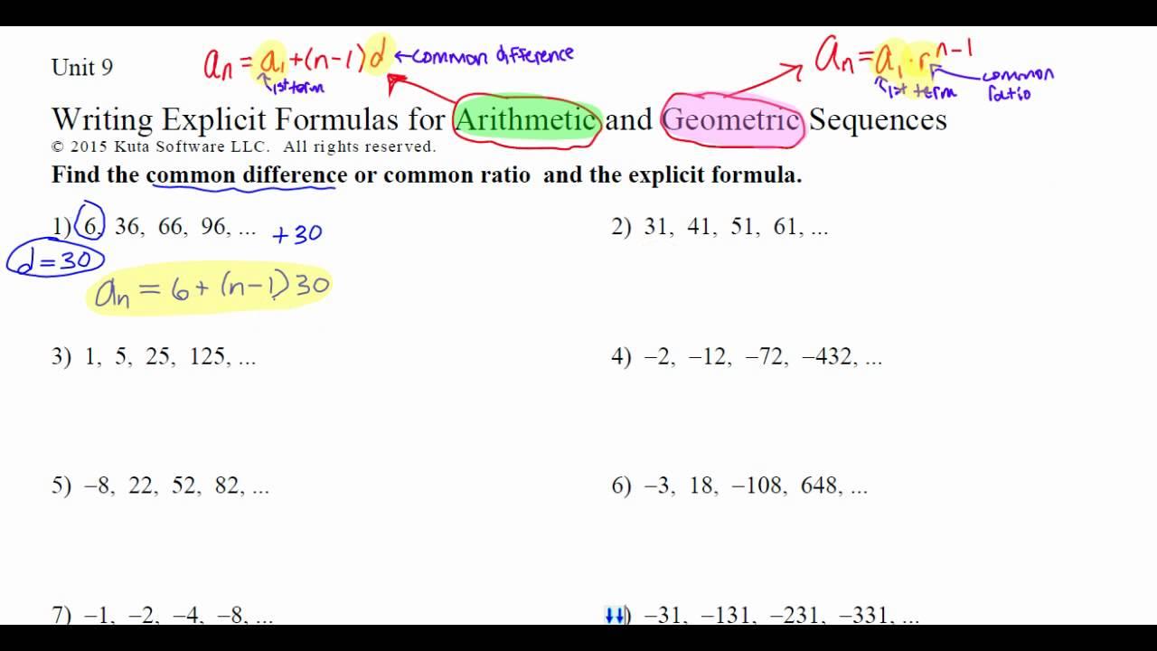Writing Explicit Formulas - YouTube