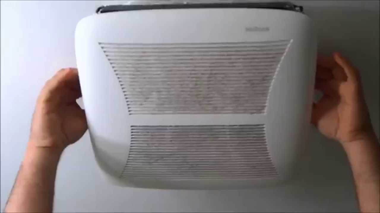 how to remove and clean a bathroom ceiling fan grille