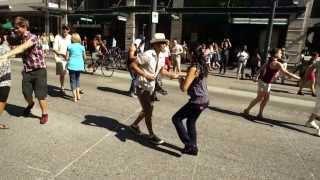 SALSA DANCING, DOWNTOWN VANCOUVER, GRANVILLE STREET