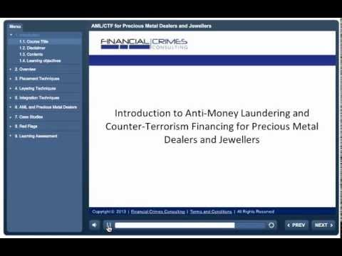 AML for Precious Metal Dealers and Jewellery Businesses - Online Training Course