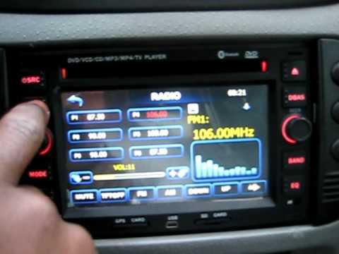car gps navigation system dvd player for peugeot 307 youtube. Black Bedroom Furniture Sets. Home Design Ideas