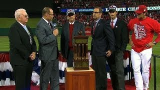 Cards presented with Warren C. Giles Trophy