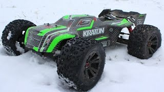 Arrma Kraton Snow Day Bash - (Ends Early With Broken Servo)