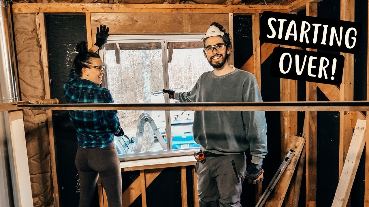 DEMOLISHING OUR HOME | Renovating Cabin in the Woods