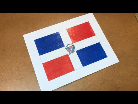 Dominican Flag Drawing 🇩🇴 (Dominican Republic)