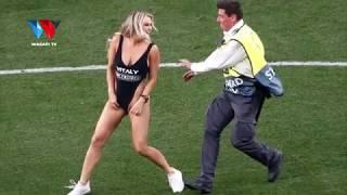 UKWELI KUHUSU MREMBO ALIYEINGIA NUSU UTUPU KWENYE FAINALI ZA UEFA