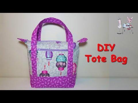 DIY TOTE BAG   DIY BAG   HANDBAG   ZIPPER BAG   BAG SEWING TUTORIAL    Coudre un sac   diy bolsa