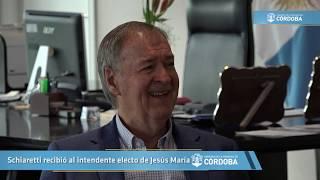 Schiaretti recibió al intendente electo de Jesús María