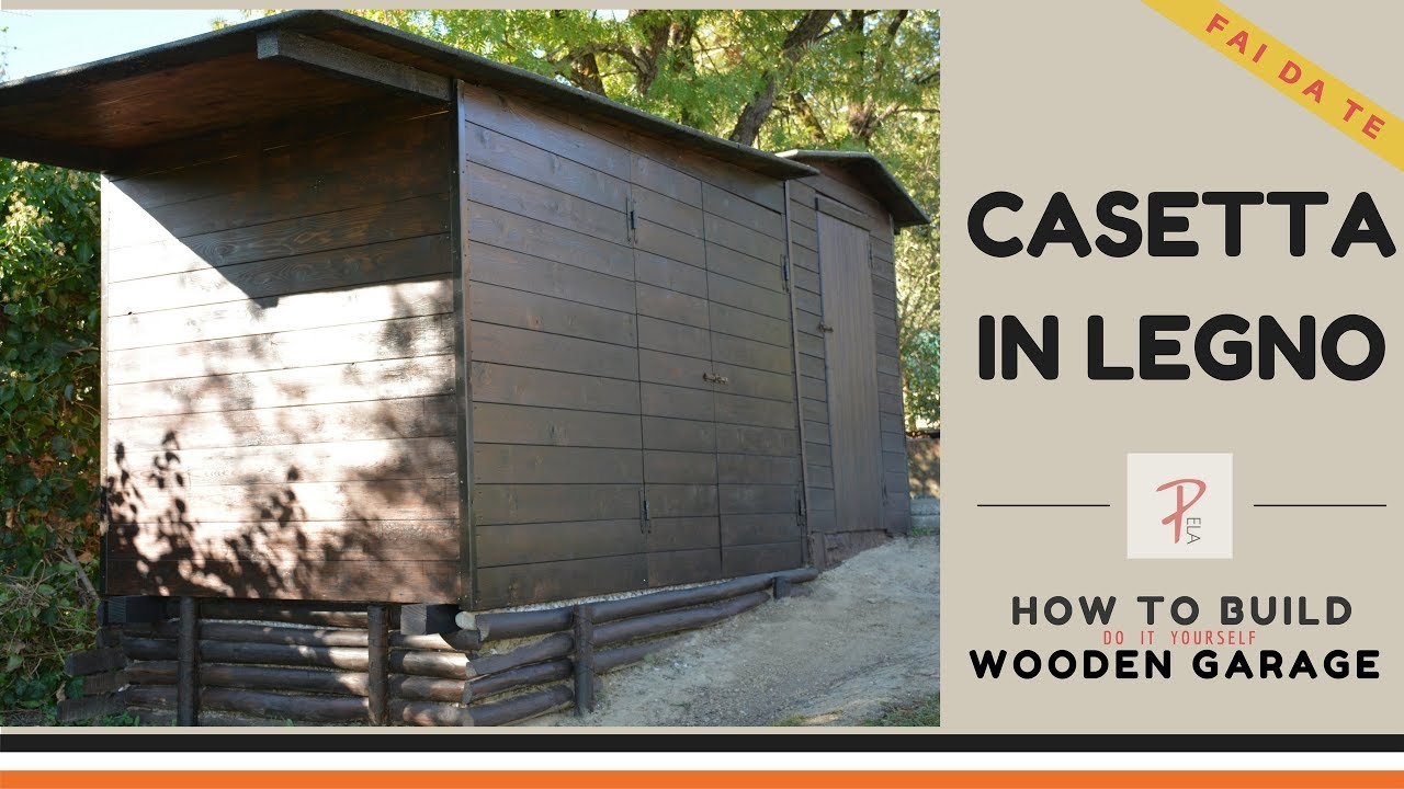 Homemade Wooden Garage
