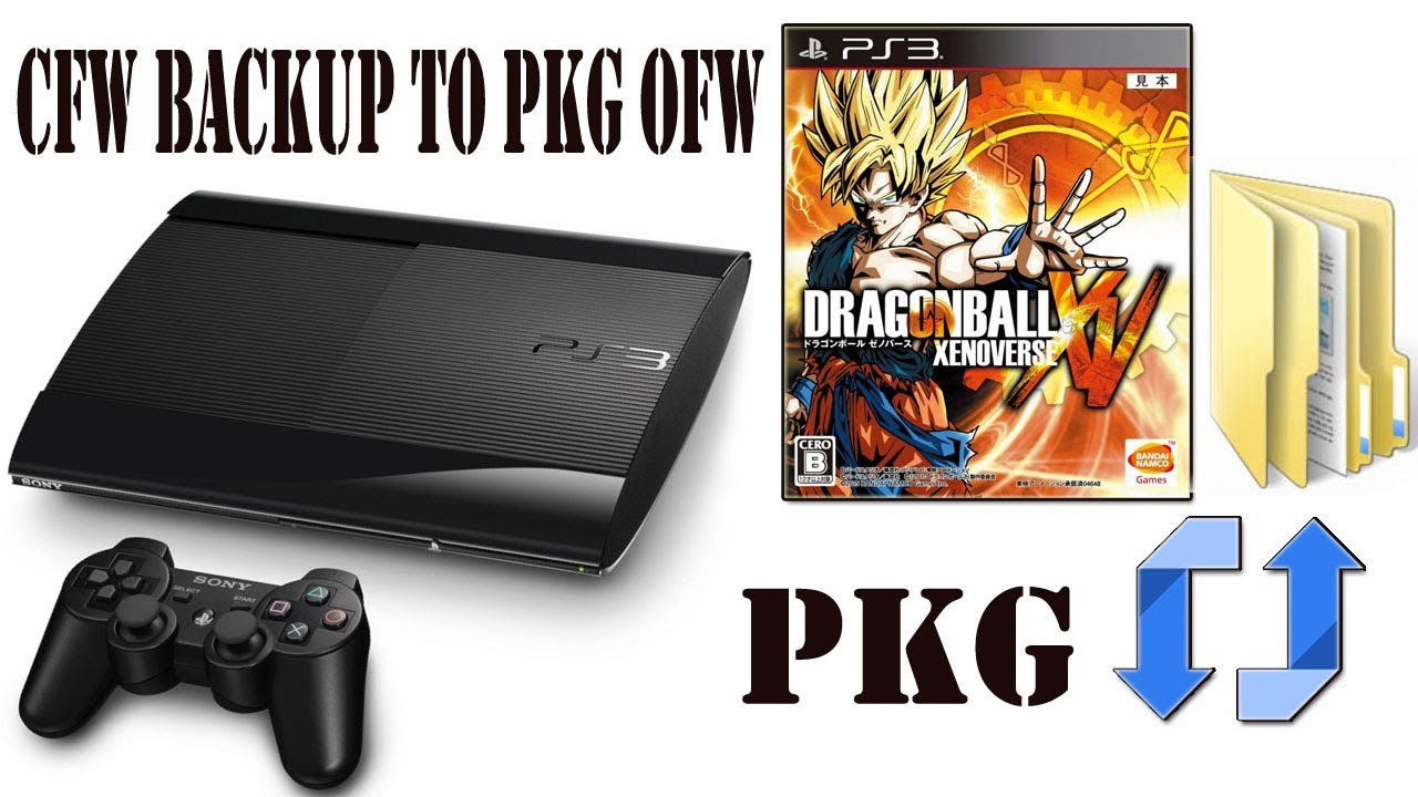 How To Convert PS3 CFW Backup To PKG OFW For PS3 Super Slim / Slim  PS3Xploit Tool